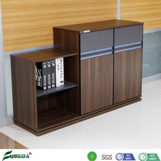 Hot Sale Melamine Panel Tea Cabinet Wooden Wall File Cabinet Office Side Cabinet Furniture