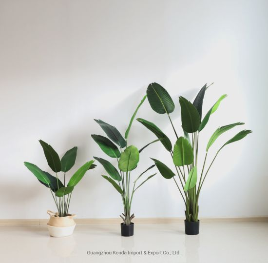 High Quality Plastic Travaler Banana Tree Artificial Skybird Tree Indoor