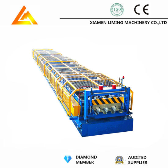 Xiamen Liming Automatic Floor Decking Tile Making Roll Forming Machine