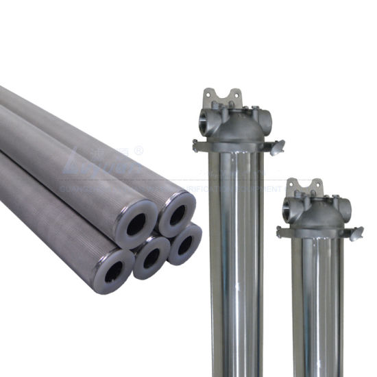 High Quality 20 Inch Sintered Porous 10 Microns Stainless Steel Filter Elements 316 for Ss Single Filter Housing