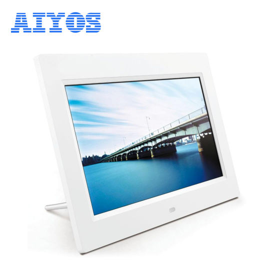 Indoor 7inch Tabletop LCD Digital Frame with Leather Frame pictures & photos