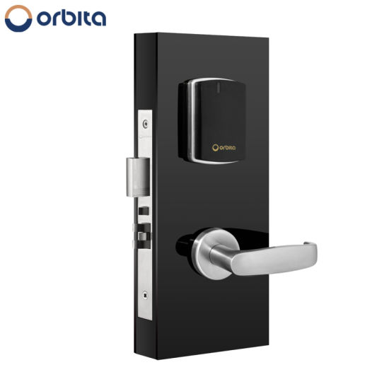 Silver stainless Steel Hotel Lock with LED Screen Supplier with LED Display Room Number and Hotel Image pictures & photos