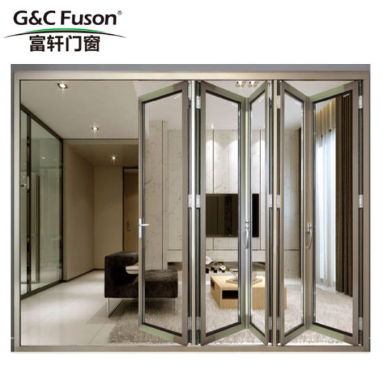 Wide Color Options Aluminum Alloy Folding Door Pictures Photos