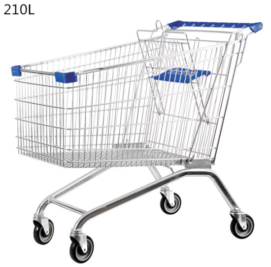 Wholesale Supermarket Metal Grocery Shopping Cart Trolley pictures & photos