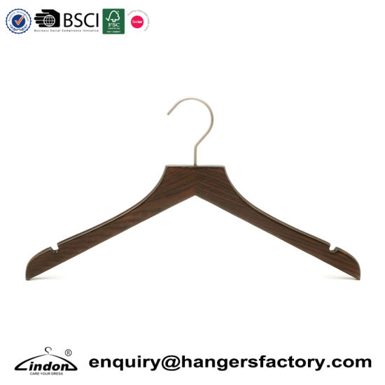 China Ash Wood Vintage Wooden Coat Top Hanger With Notches For Dress Simple Antique Wooden Coat Rack