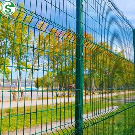 High Security Curved Iron Wire Fence V Type Panel Fence for Residential