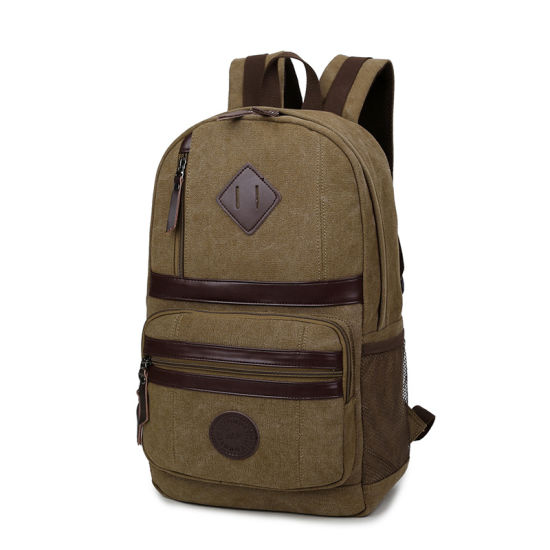 Wholesale China Manufacturers Custom Mens Women Canvas Backpack pictures & photos