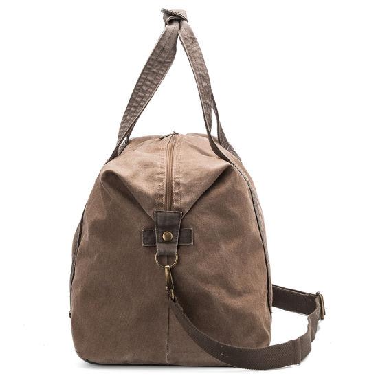 3e137a8c94fe China Vintage Design Custom Mens Canvas Sport Duffle Bag Gym Bag ...