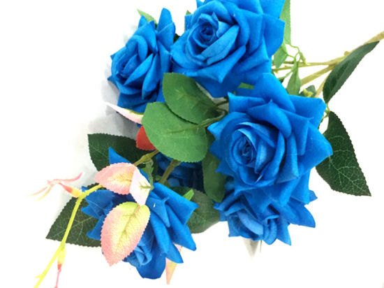 7 Branch Artificial Flower Silk Rose for Wedding Decoration