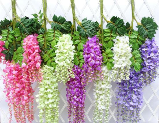 China wholesale cheap silk vinewisteria artificial flowers for wholesale cheap silk vinewisteria artificial flowers for decoration mightylinksfo