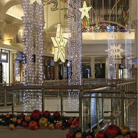 China Toprex Decor 3d Motif Christmas Metal Lighted Star For Commercial Wall Decor China Light Decordtion Light