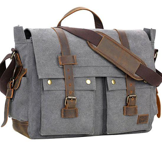 fbcf80a2bf Men′s Messenger Bag Vintage Canvas Leather Satchel Laptop Bags pictures    photos