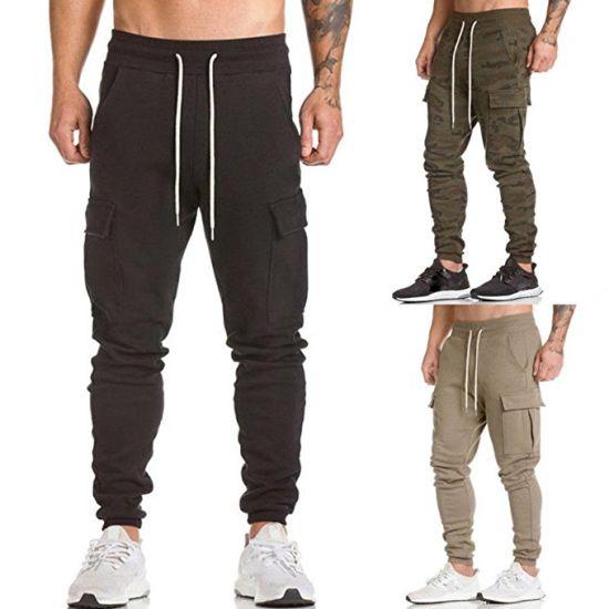 Men Sweatpants Cargo Work Trousers Jogger Sportwear Jogging Pants