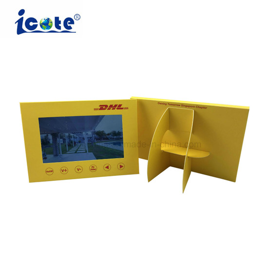 Hot Sale Unique LCD POS Shape Video Brochure Display for Advertising