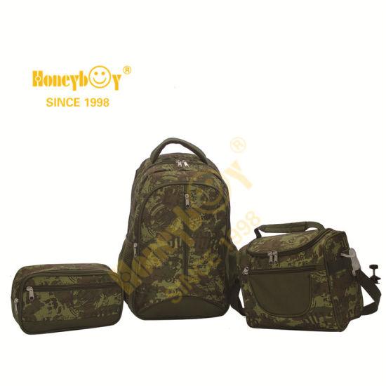 Camouflage Kids's School Bag Set for Little Boys Primary School