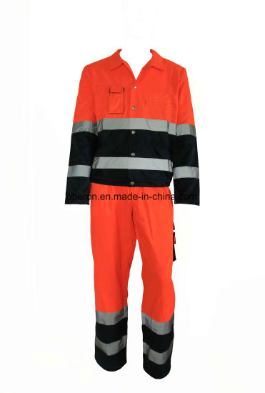 65% Polyester 35%Cotton Long Sleeve High Quality Safety Workwear Work Suit