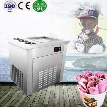 Hot Sale Stainless Steel Single Square Fired Ice Cream Machine