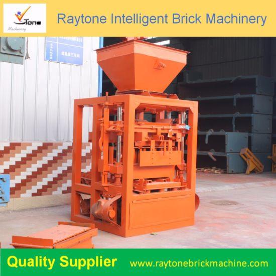 Qt40-1 Manual Concrete Block Making Machine Hollow Brick Forming Machine