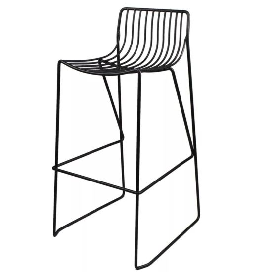 Commercial Furniture General Use Power-Coated Metal Wire Bar Chair