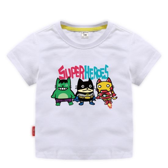 Superhero Summer Children's Fashion Trend Short-Sleeved Kids Wear