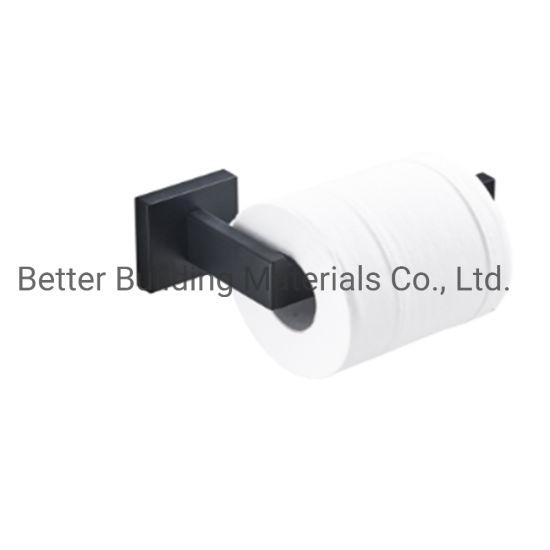 Towel Rail Rack Toilet Paper Roll Holder Tissue Robe Hook Shelf Black Accessory