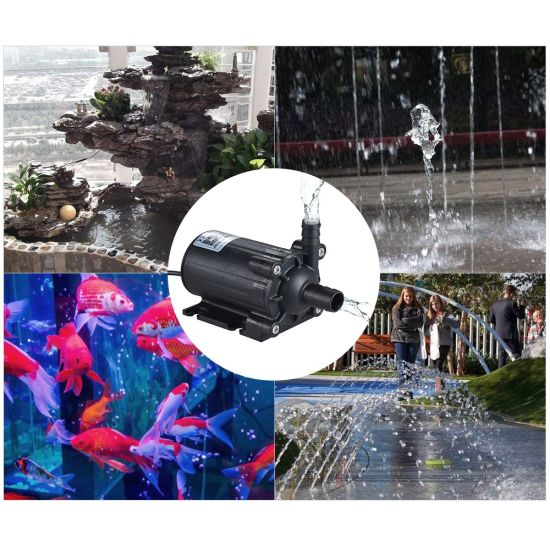Flow 450L/H Fountain Brushless Water Circulating Decoration Amphibious Pumps for Water Return DC 12V pictures & photos