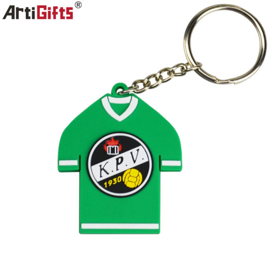 Promotional Gifts Plastic Rubber PVC Logo Car Keychain