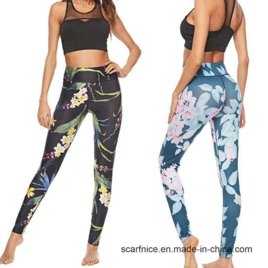 e3eff844f5e China Sport Leggings High Waist Pants Floral Print Yoga Pants ...