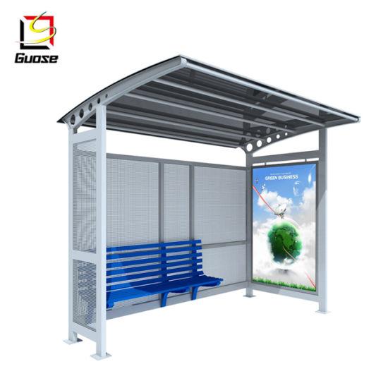 Street Furniture Outdoor Smoking Shelter Bus Stop Advertising Display