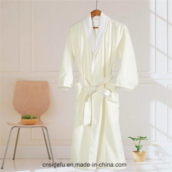 81bbfabe99 China Hotel High Quality Shell Terry Lined Microfiber Bathrobe Robe ...