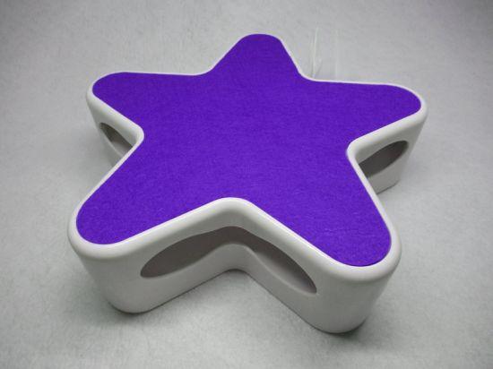 Purple Random Rotating Feather Interactive Cat Toy
