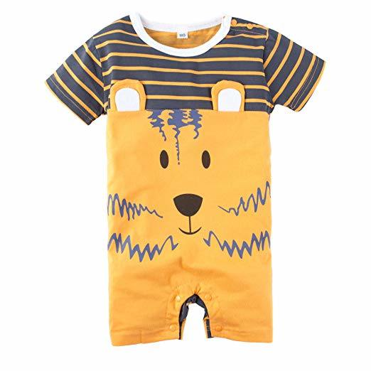 Kids Baby Boys' 1 Piece Product Apparel Graphic Print Short Sleeve Romper Jumpsuit Wear