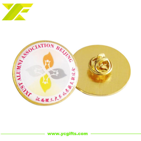 Professional Custom Gold Plated Metal Pin Badge for Souvenir (BD06-C)