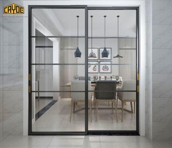 China Aluminium Double Glazed Grey Sliding Patio Door China