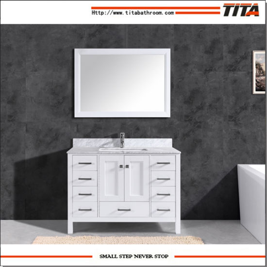 Hot Selling Solid Wood Modern Bathroom Vanity Cabinet T9199-48W