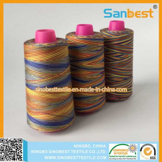 Space Dyed Spun Polyester Sewing Thread pictures & photos