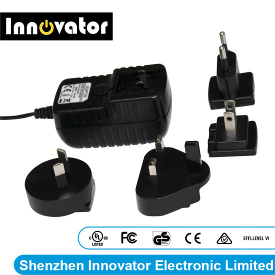 Support ODM OEM 9V 1.5A 13.5W Interchangeable AC DC Power Adapter