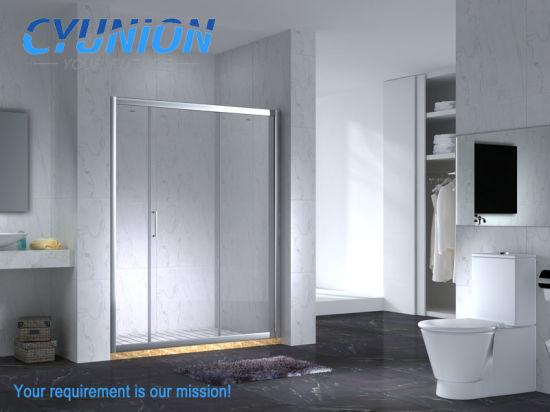 2018 Bathroom Sliding Door Tempered Glass Shower Room Enclosure Cabin Square Enclosure Frame Hinge Cabin Complete Corner Simple Frameless Bath Enclosure