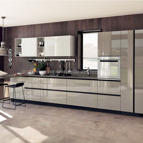 Lacquer Modern Plywood Home Furniture Wood Kitchen Cabinet Zf-Kc-007