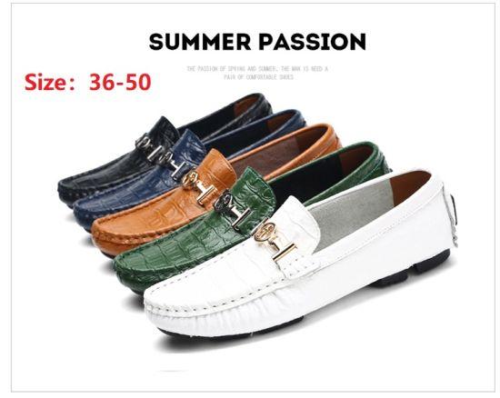 New Big Size Men's Peas Shoes British Set of Feet Lazy Shoes Leather Men's Shoes Driving Shoes