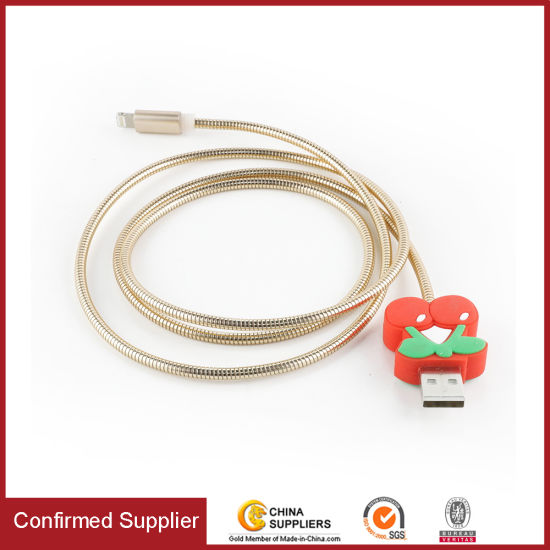 Soft Metal Charging Cable 5V2.1A Charge Cord Mobile Phone Data Cable
