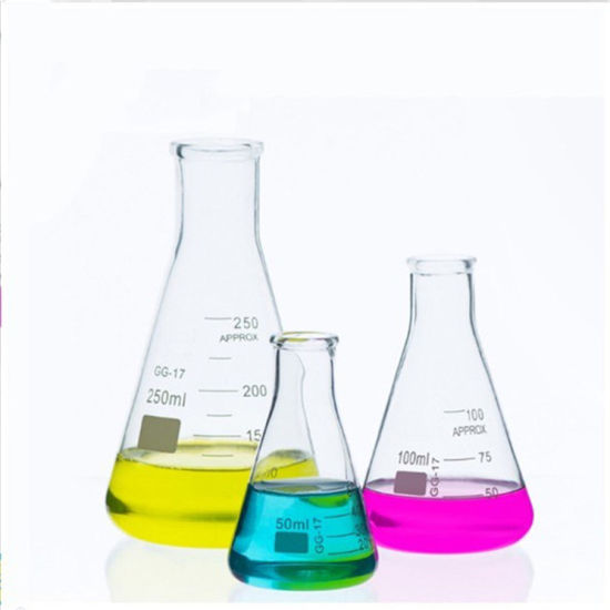 High Quality Glass Erlenmeyer Flask with Graduation