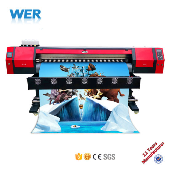 High Quality 1.8m Outdoor Eco Solvent Printer Plotter Poster Printing Machine Wer-Es1802 pictures & photos