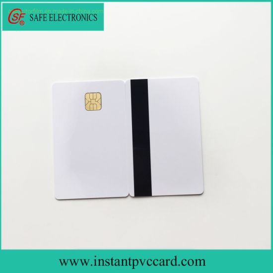 White Chip PVC Card with Hico Magnetic Stripe