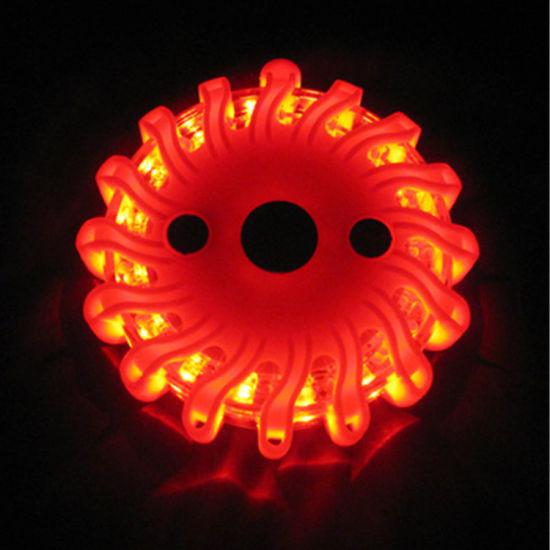 LED Road Flares Flashing Magnetic Base Warning Light Roadside Lights
