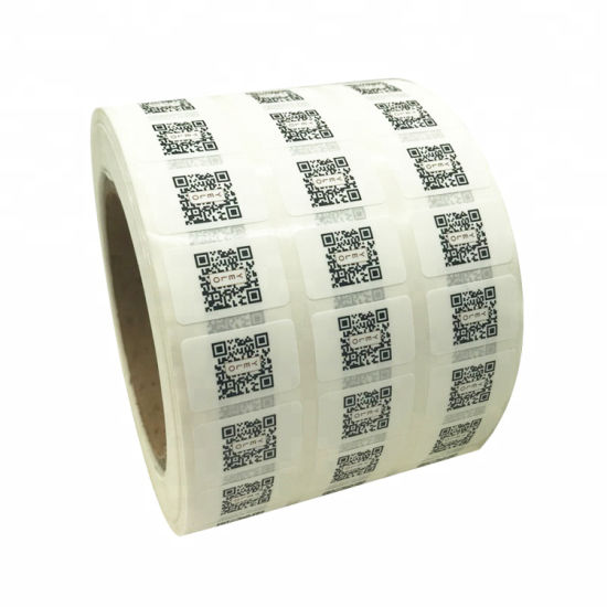 Qr Code Printing Label Commodity Code Label Bardode Label