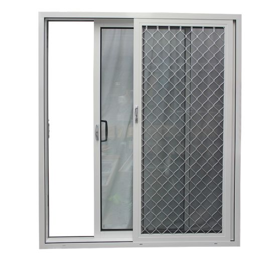 Australia Style Aluminium Frame Glass Sliding Doors with Fire Proof Stainless Steel Mesh pictures & photos