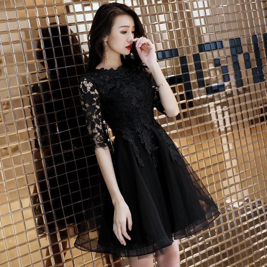 Wholesale Black Prom Dresses 2019 Birthday Party Short Formal Dresses 29627