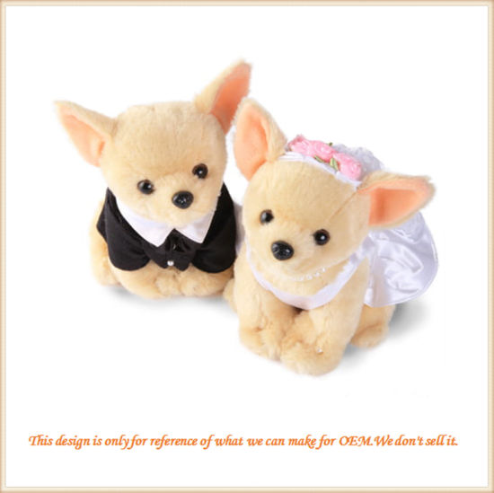 New Design Custom Made Plush Puppy Wedding Gift for Friends