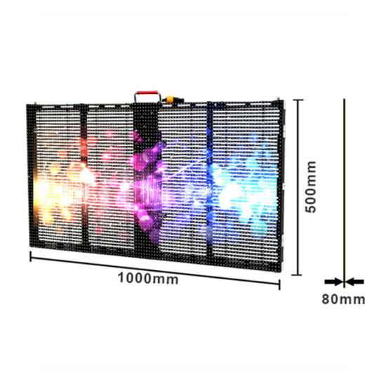Indoor Outdoor P3.9-7.8 LED Transparent Ice Display/LED Glass Display Screen for Rental Stage Show/Outside Wall